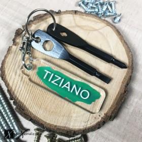 portachiavi personalizzato idea regalo portachiavi plexiglass con cacciaviti