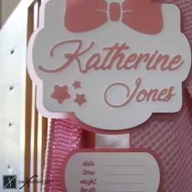 birth ribbon personalized