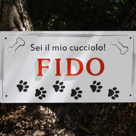 targa cane personalizzata