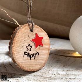 decorazione natale legno