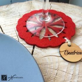 personalized coaster made of felt