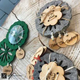 Set of 4 Coasters made of Felt