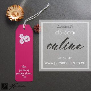 www.personalizzato.eu  Scopri i nostri prodotti personalizzabili