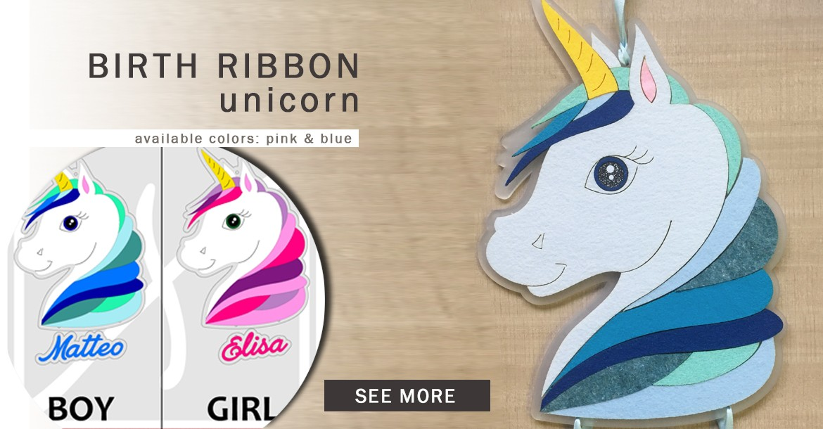 unicorn birth ribbon